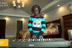 Girl orphaned by war starts new life in US