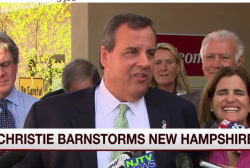 Christie turns focus to New Hampshire