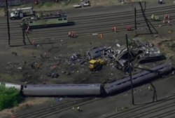 Chris Hayes surveys crash site from...