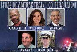 Amtrak derailment victims identified