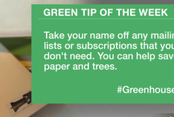 Green Tip: Eliminate mail subscriptions