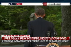 Pres. Obama Speaks on trade and Mideast