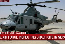 Wreckage of missing Marine chopper found