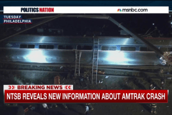 Was Amtrak 188 hit with something?
