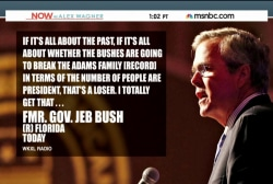 Jeb Bush deals with family legacy issues