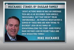 Mike Huckabee's questionable defense