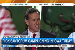 Rick Santorum returns to the campaign trail