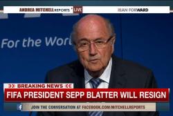 FIFA president Sepp Blatter to resign