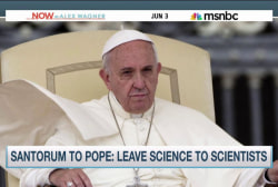 Santorum to Pope: Leave science to scientists