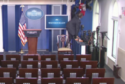 Camera covered up at WH briefing room