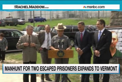 Prison escapee manhunt spreads to Vermont