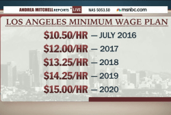 LA to raise minimum wage to $15/hour by 2020
