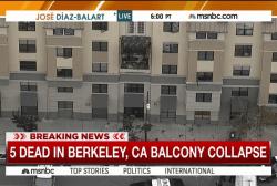 California balcony collapse kills at least 5