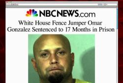 White House fence jumper sentenced
