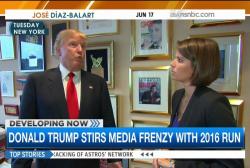 Donald Trump creates media frenzy