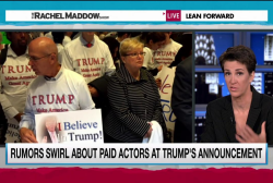 Actors paid to attend Trump campaign event