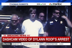 Dashcam video shows Dylann Roof's arrest