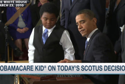 'Obamacare kid' reacts to SCOTUS decision