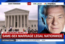 Actor Ian Mckellen comments on same-sex...