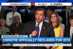 Christie officially declares 2016 candidacy