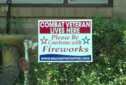Fireworks ignite discussion about vets, PTSD