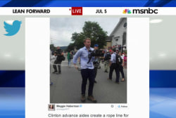 Controversy over Clinton campaign rope line
