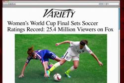 Sunday women's final breaks TV record