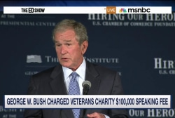 George W. Bush paid $100K to address Iraq...