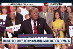 Trump triples down on immigration remarks