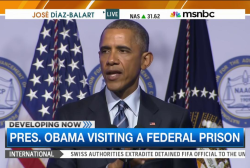 Obama visits federal prison amid reform calls