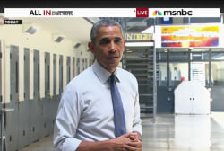 Obama takes his reform agenda to prison