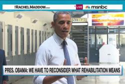 Obama's prison visit signals political shift