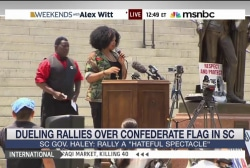 Dueling rallies over Confederate flag in SC