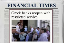 Greek banks reopen after three-week shutdown