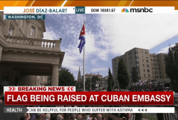 Cuban flag raised outside new embassy in DC