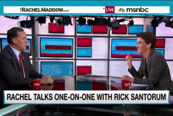 Maddow, Santorum go head to head on SCOTUS