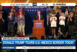 Donald Trump tours US-Mexico border