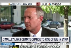 O'Malley links climate change to ISIS