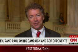 Paul: Media going gaga over Donald Trump