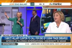 Clinton calls for end to Cuban trade embargo