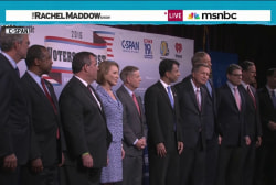 Crowded stage for first GOP candidates forum