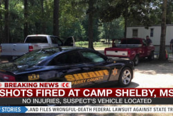 Shots fired at Camp Shelby Mississippi