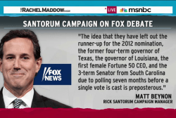 Santorum campaign rips Fox News debate picks