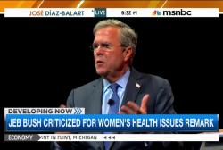 Bush clarifies women's health issues remark