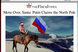 Putin claims the North Pole