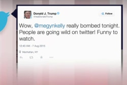 Trump fires back at moderators on Twitter