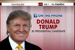 Donald Trump calls into Morning Joe
