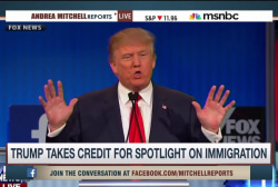 Trump takes credit for immigration debate