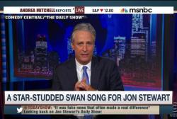 'Jon voyage!' Jon Stewart signs off