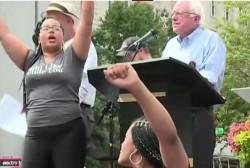 Black Lives Matter disrupts Sanders event